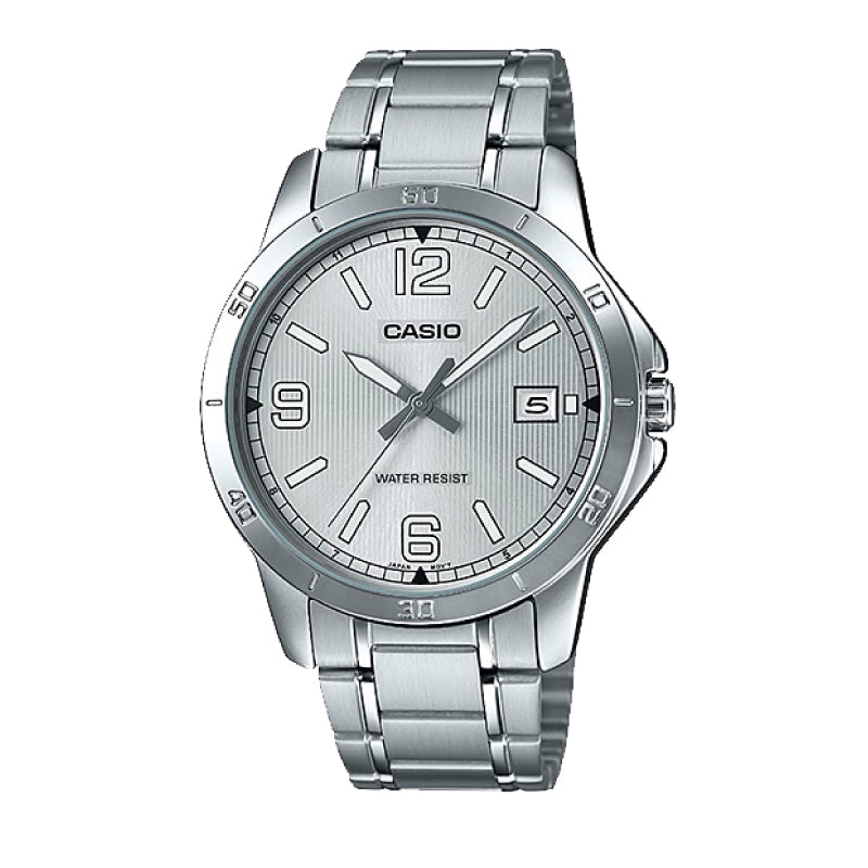 Casio Men's Standard Analog Silver Stainless Steel Band Watch MTPV004D-7B2 MTP-V004D-7B2