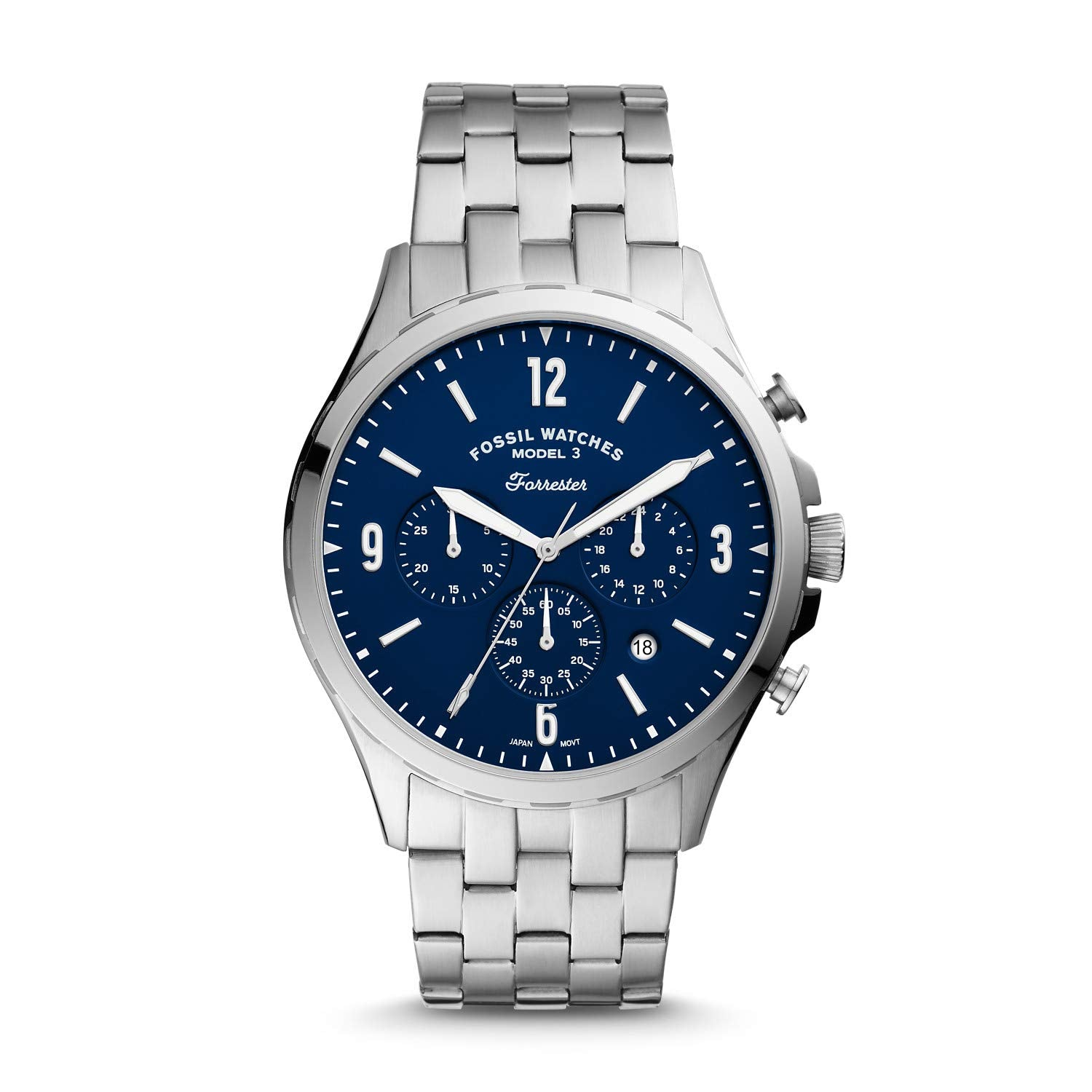 Fossil Men's Forrester Chronograph Stainless Steel Watch FS5605