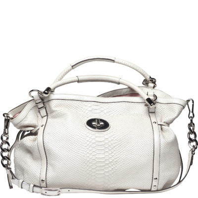 Coach Audrey Pinnacle Embossed Exotic Cinched Tote