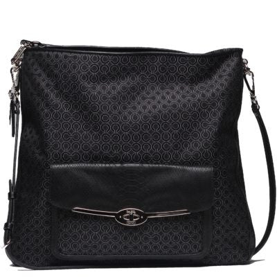 Coach Madison Pearlescent Fabric Madeline Hobo