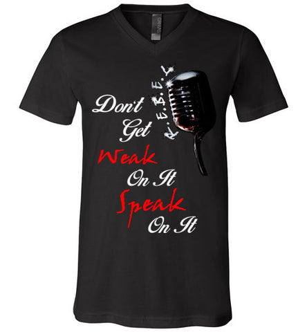 Speak On It (Black Script) V-Neck