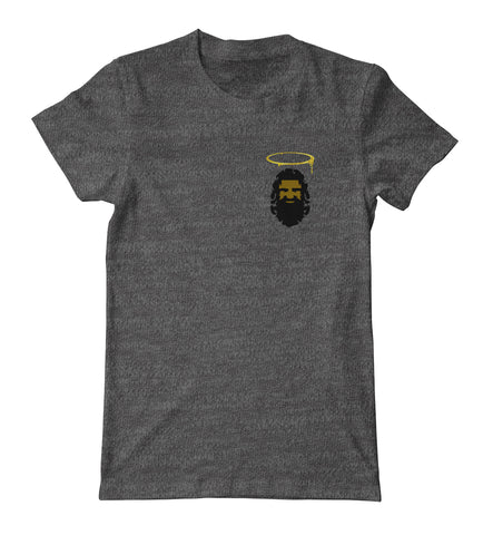 Print God Dark Grey Pocket Tee