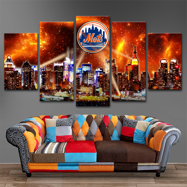 New York Mets 5 Piece Canvas
