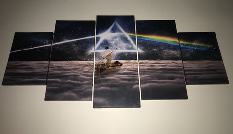 LED PAINTING Pink Floyd 5 Piece Canvas