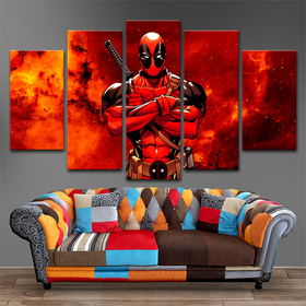 Dead Pool 5 Piece Canvas