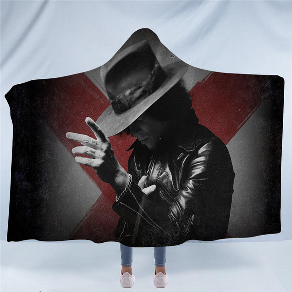 Enrique Bunbury Hooded Blanket
