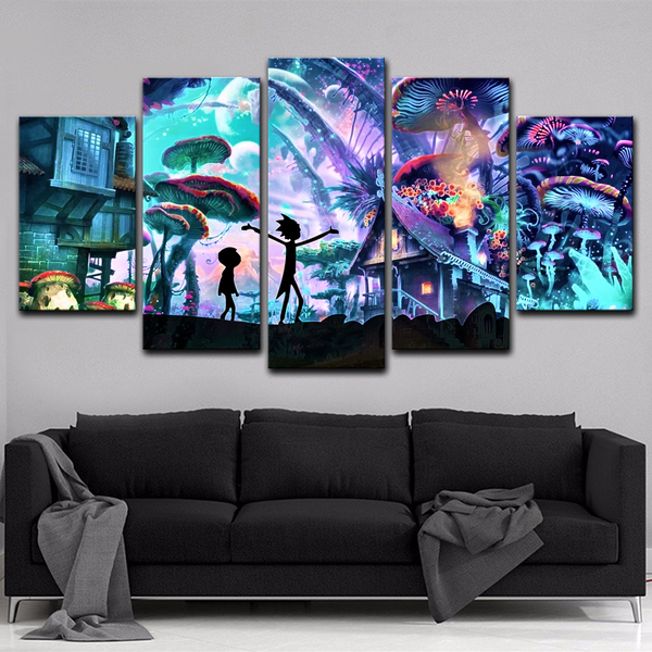 Rick and Morty 5 Piece Canvas