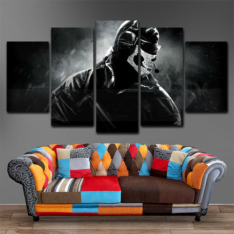 Call Of Duty 5 Piece Canvas