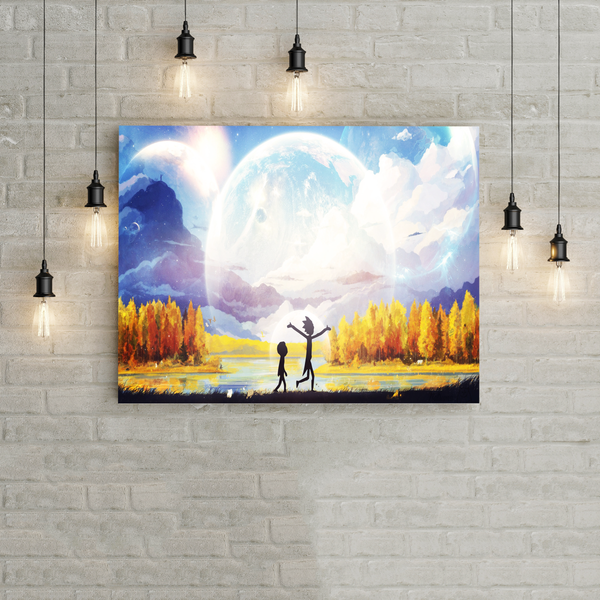 Rick and Morty Hot Print Canvas !