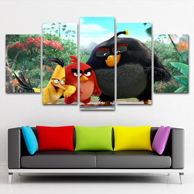 Angry Birds 5 Piece Canvas
