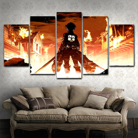 Attack On Titan 5 Piece Canvas