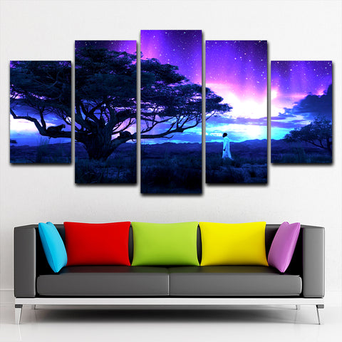 Black Panther 5 Piece Canvas