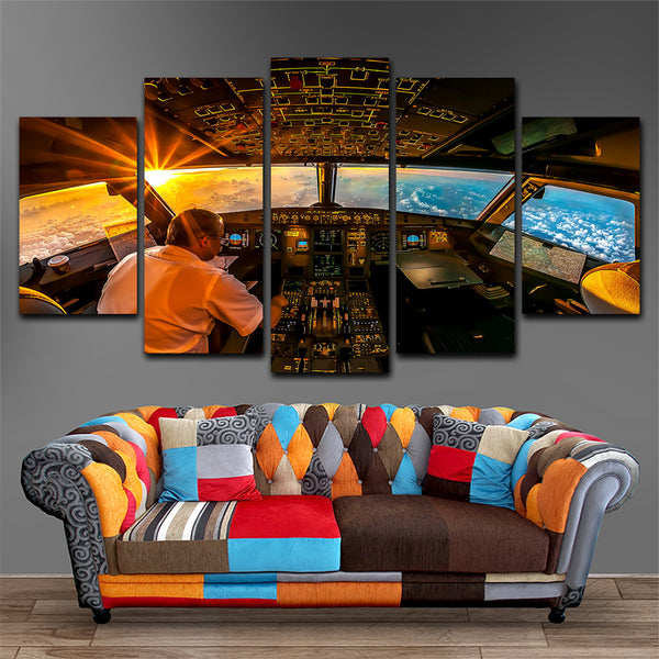 Cockpit  5 Piece Canvas