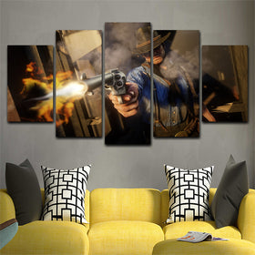 Red Dead Redemption  5 Piece Canvas