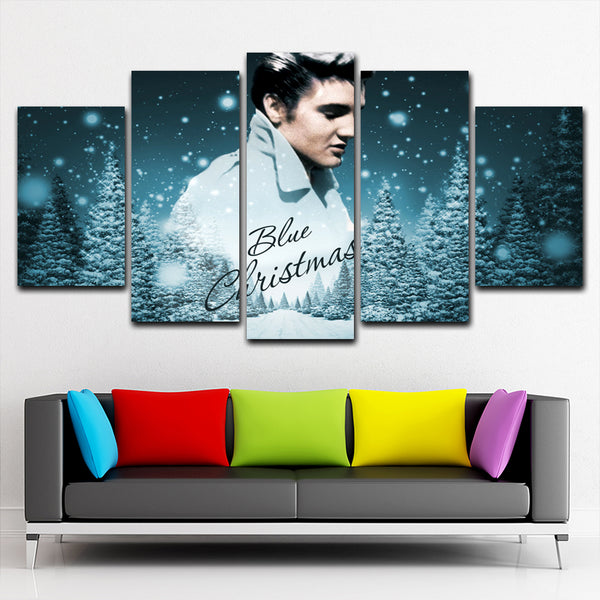 Elvis Presley 5 Piece Canvas