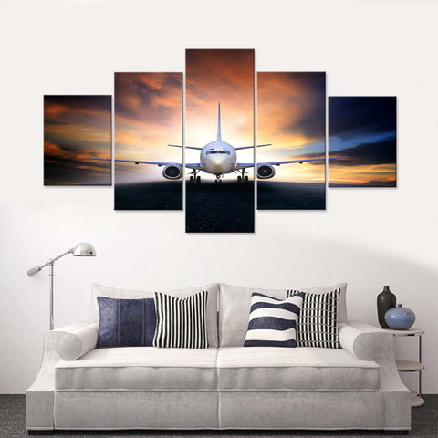 Planes  5 Piece Canvas