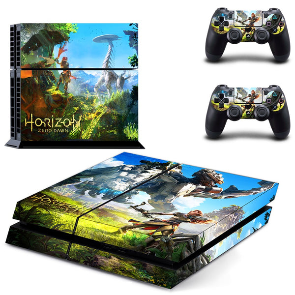 New Game Horizon Zero Dawn PS4 Skin Stickers for Sony PlayStation 4 Console and Controllers Vinyl Decal PS4 Sticker