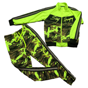 LIMITED Neon Green Camo Tracksuit Exclusive