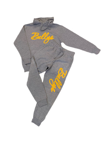 Grey Area Bellys Sweatsuit with Yellow