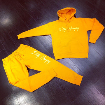 Stay Hungry Sweat Suit - Orange
