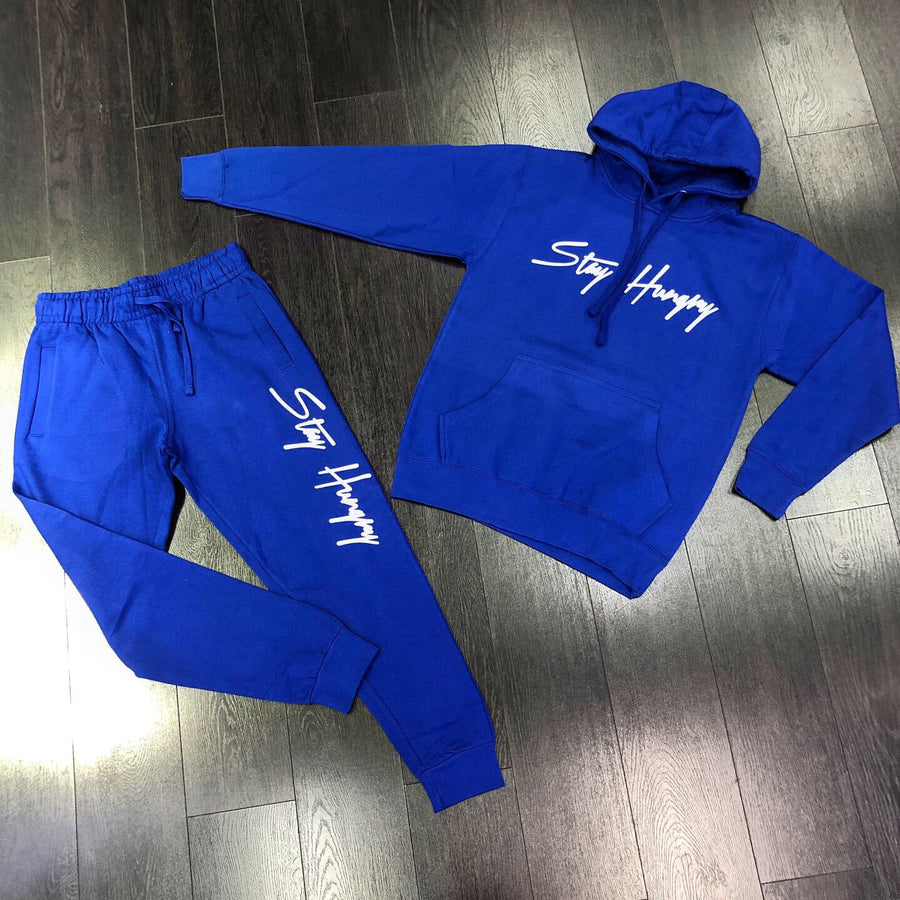Stay Hungry Sweat Suit - Blue