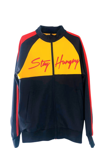 Stay Hungry Tracksuit- Black + Yellow