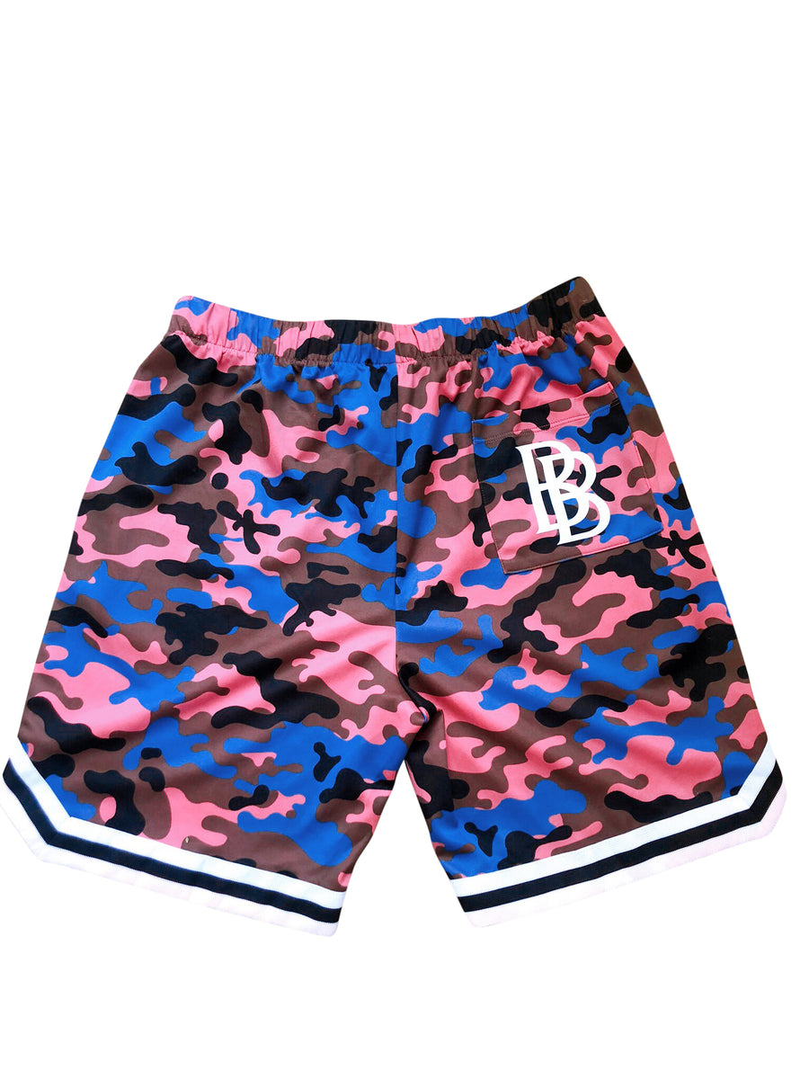 Dri-FIT Royal Blue BB Camo-Blend Shorts