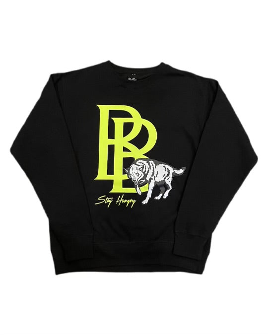 Ultimate hunger crewneck Black / Yellow