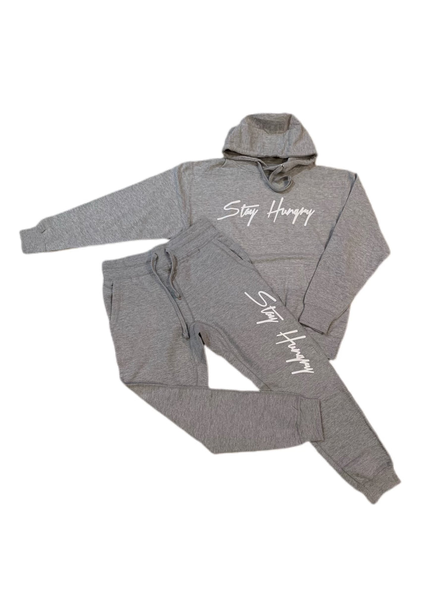 Grey Area Stay Hungry Sweatsuit with White