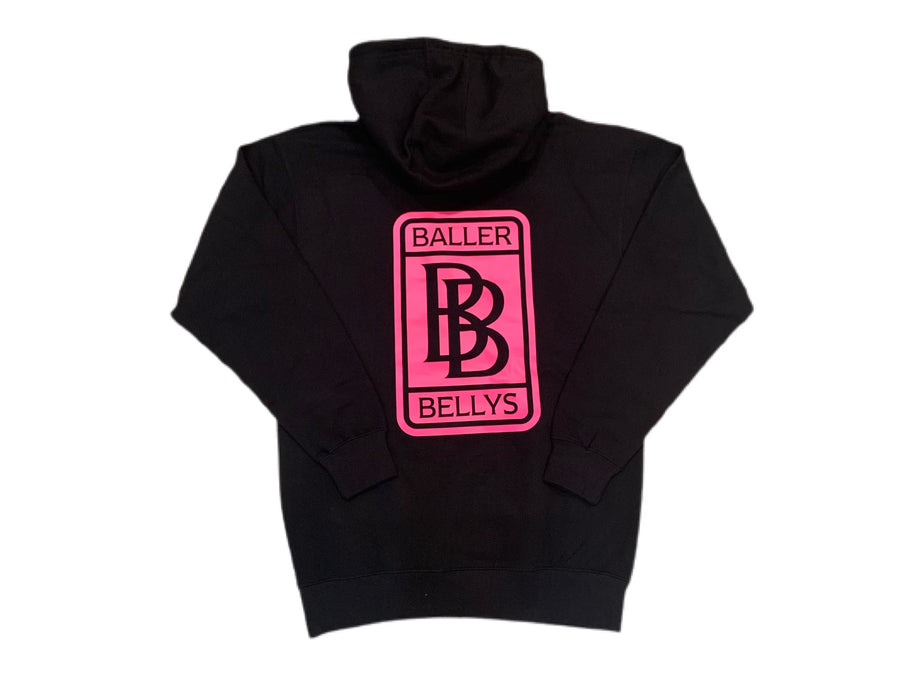 Black Stay Hungry Sweatsuit with Neon Pink