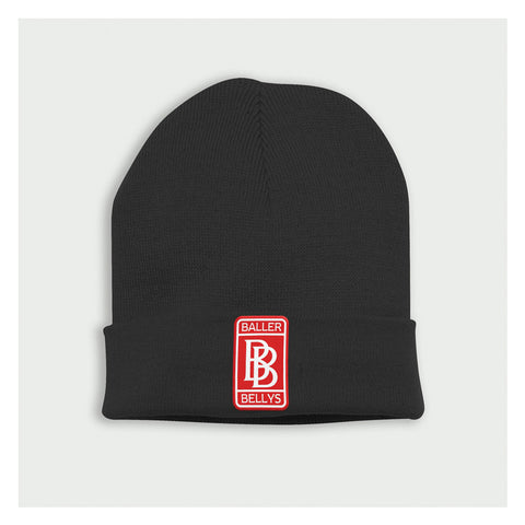 BB Beanie Black/Red - Baller Bellys