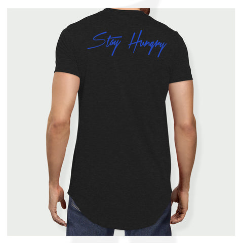 Stay Hungry Longline Tee B/BL - Baller Bellys