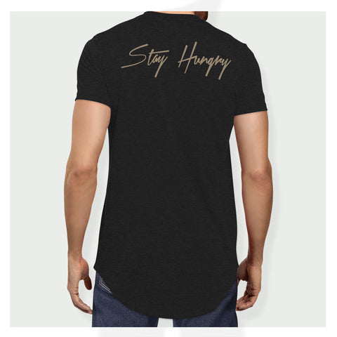 Stay Hungry Longline Tee B/G - Baller Bellys