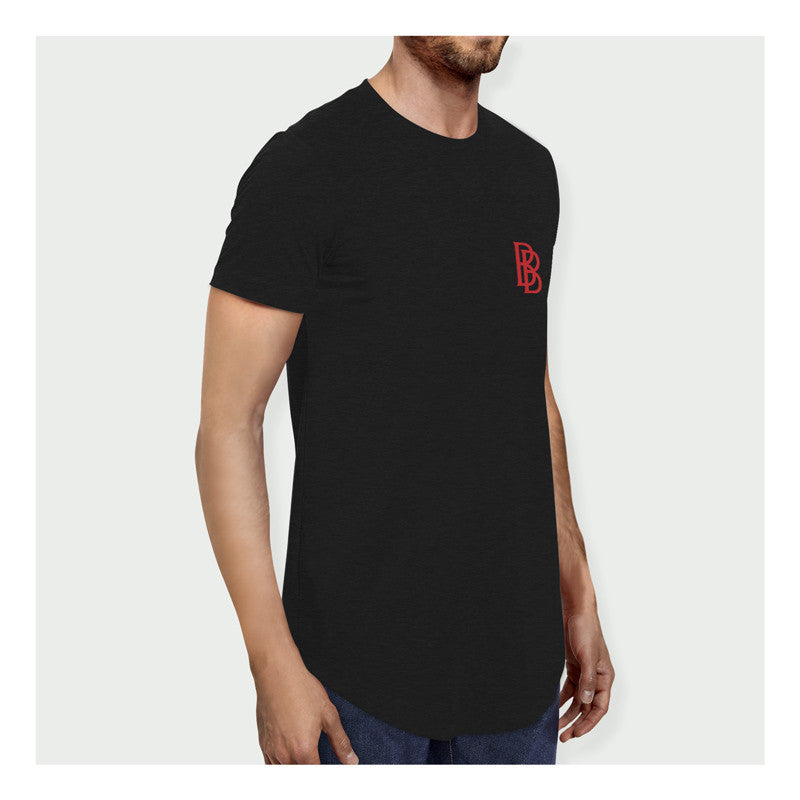 Stay Hungry Longline Tee B/R