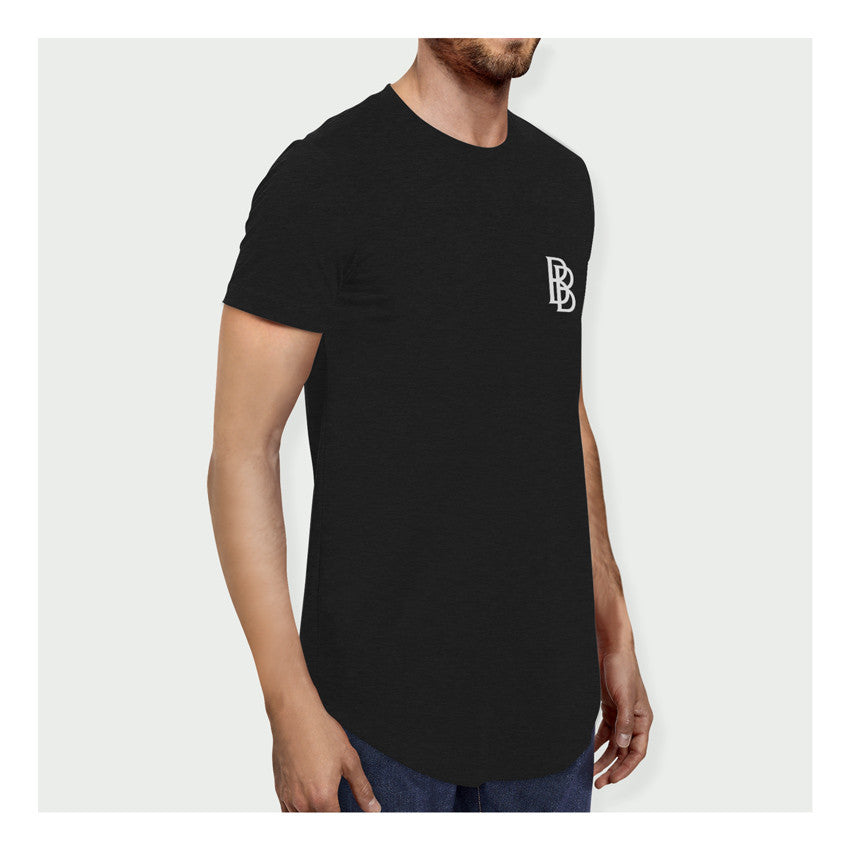 Stay Hungry Longline Tee B/W