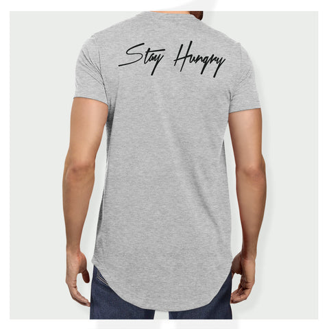 Stay Hungry Longline Tee H/B - Baller Bellys