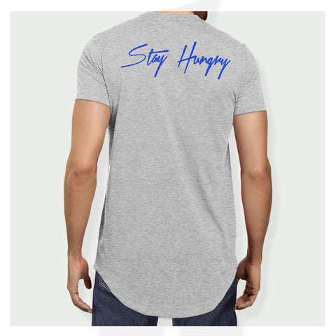 Stay Hungry Longline Tee H/BL - Baller Bellys