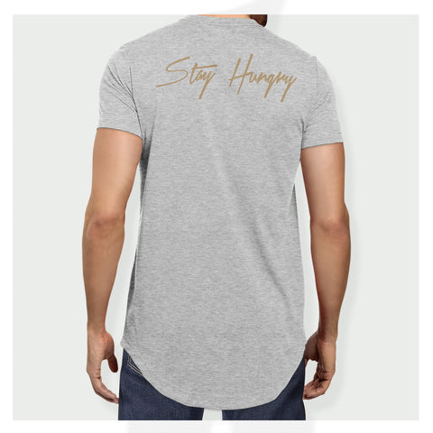 Stay Hungry Longline Tee H/G - Baller Bellys