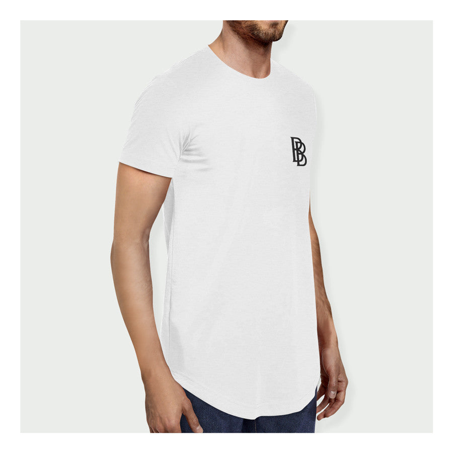 Stay Hungry Longline Tee W/B