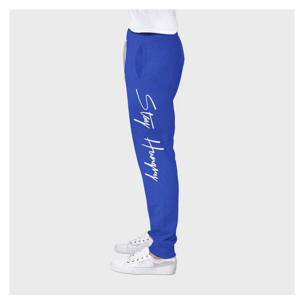 Stay Hungry Joggers BL/W