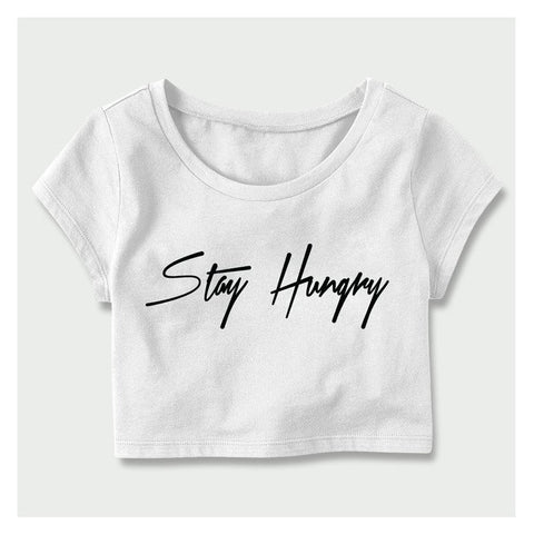 Stay Hungry Crop Top - Baller Bellys