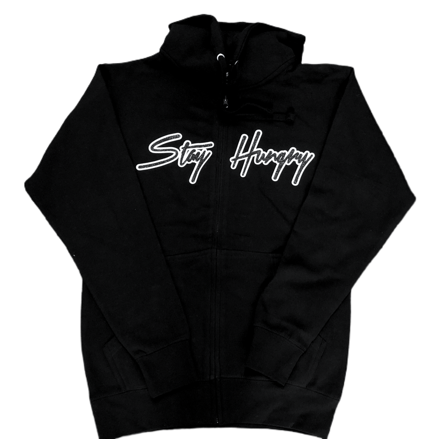 Premium Stay Hungry Black/White sweatsuit