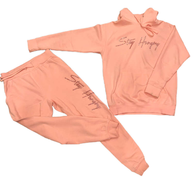 Women's Blush Pink Sweat Suit
