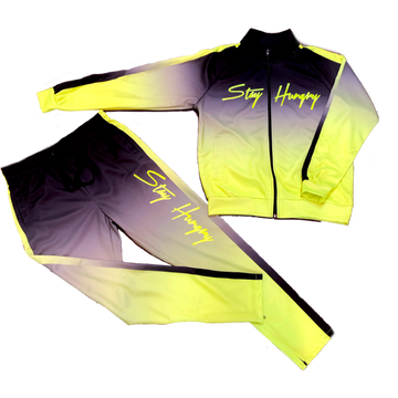 Premium Neon Green/Black Stay Hungry Tracksuit