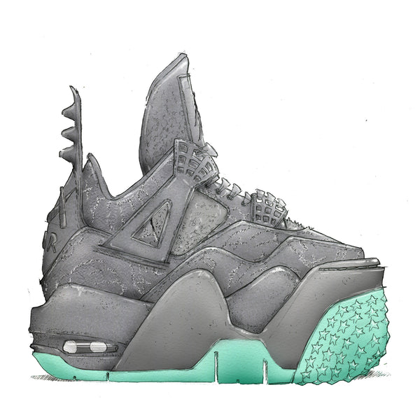 "KAWS x Air Jordan 4 12""x12"" Art Print"