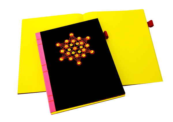 Sequin Notebook : Black Star