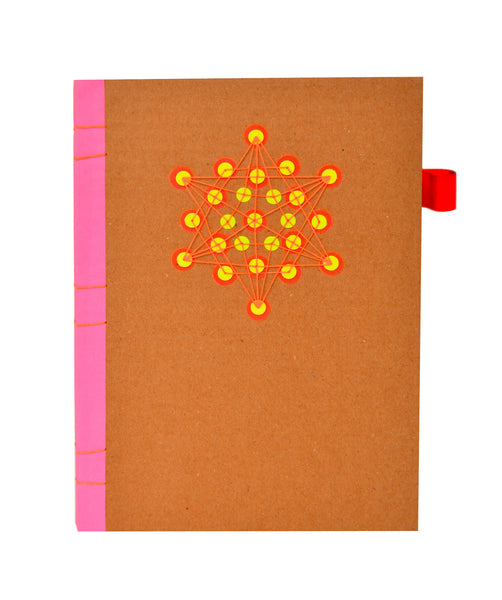 Sequin Notebook : Brown Star