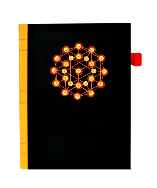 Sequin Notebook : Black Atom