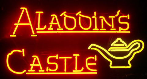 New Aladdin's Castle Handmade Art Neon Signs