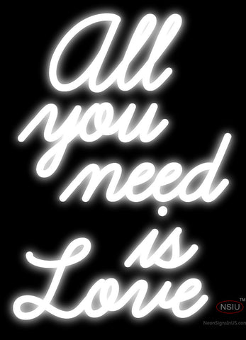 All You Need is Love Neon Sign (White)